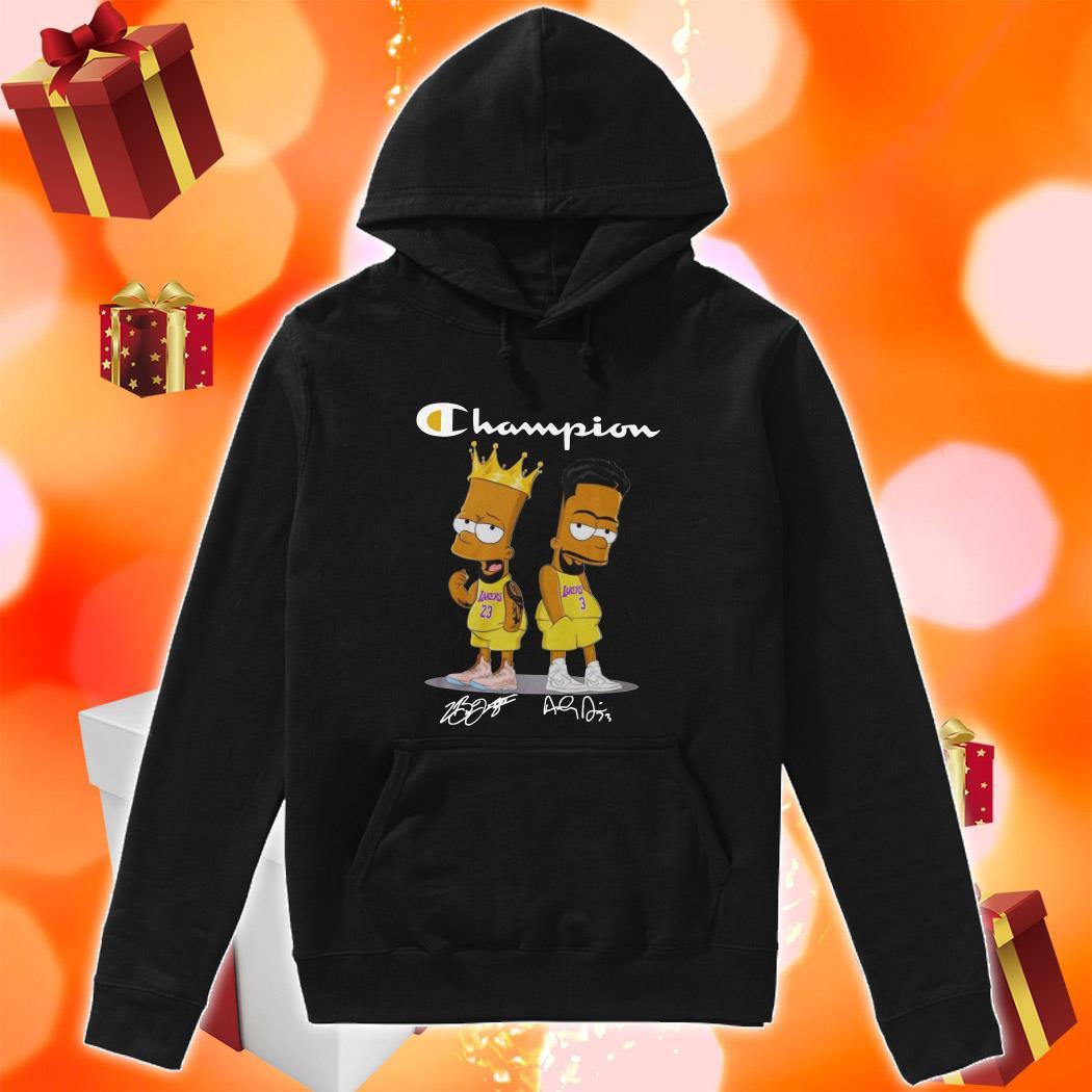 Champion Bart simpson James Lebron Anthony Davis hoodie