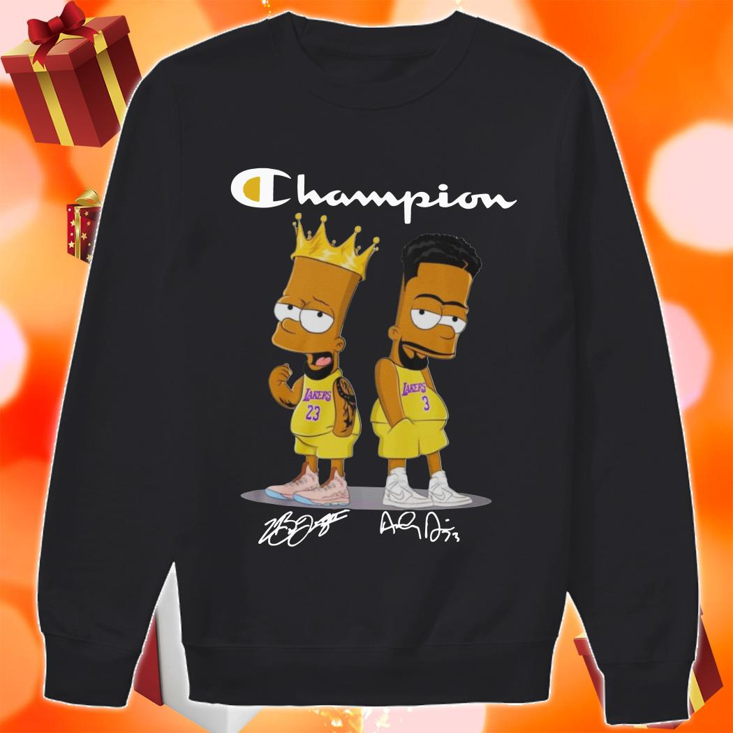 Champion Bart simpson James Lebron Anthony Davis sweater