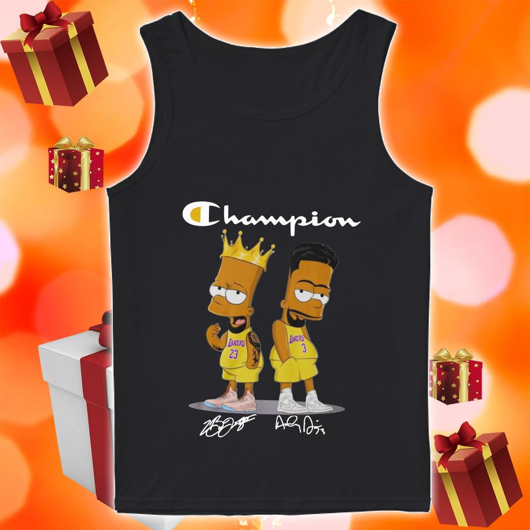 Champion Bart simpson James Lebron Anthony Davis tank top