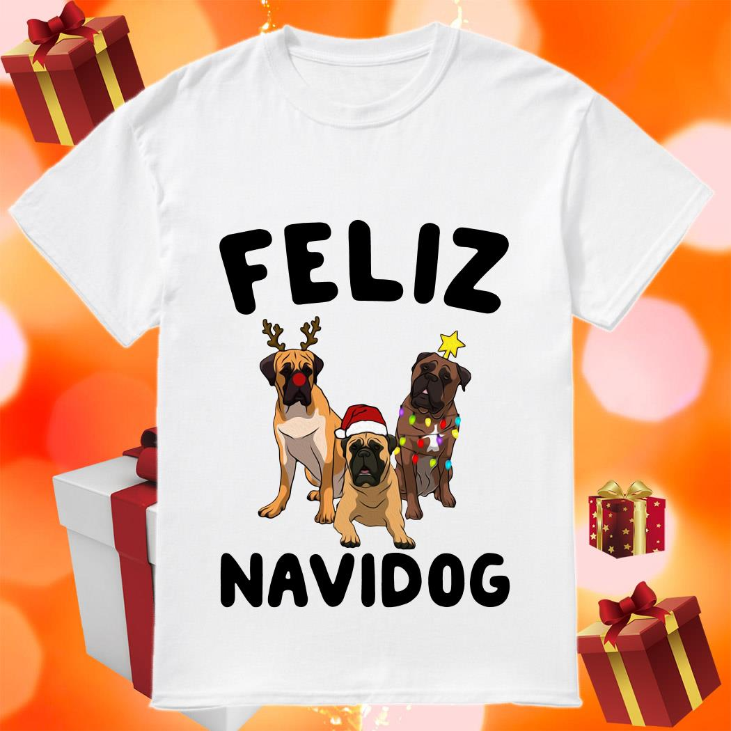 Feliz Navidog English Mastiff Christmas Sweatshirt