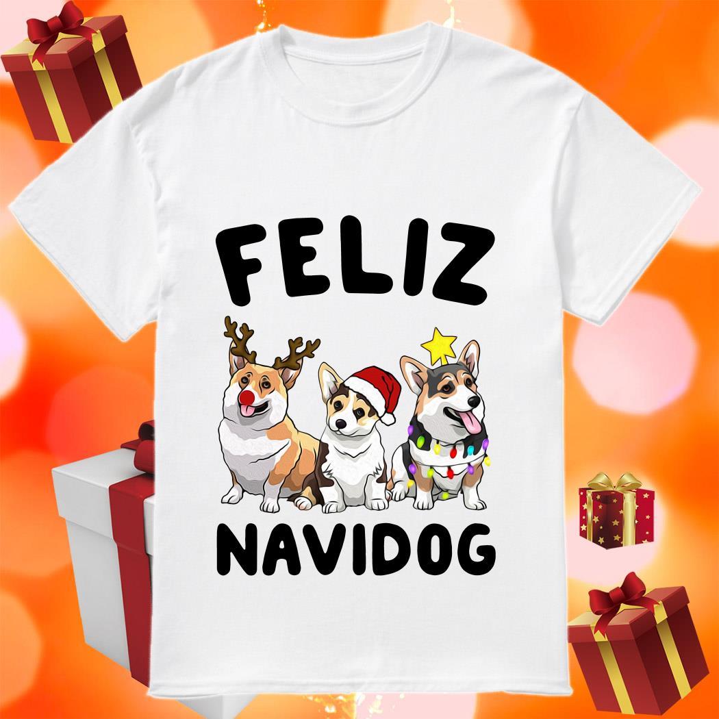 Feliz Navidog Merry Christmas Corgi dog shirt