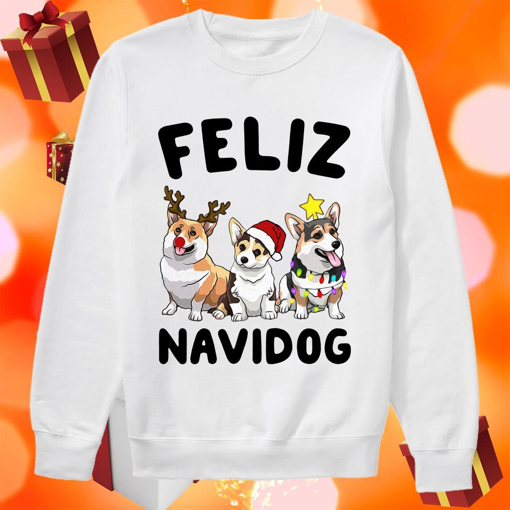 Feliz Navidog Merry Christmas Corgi dog sweater