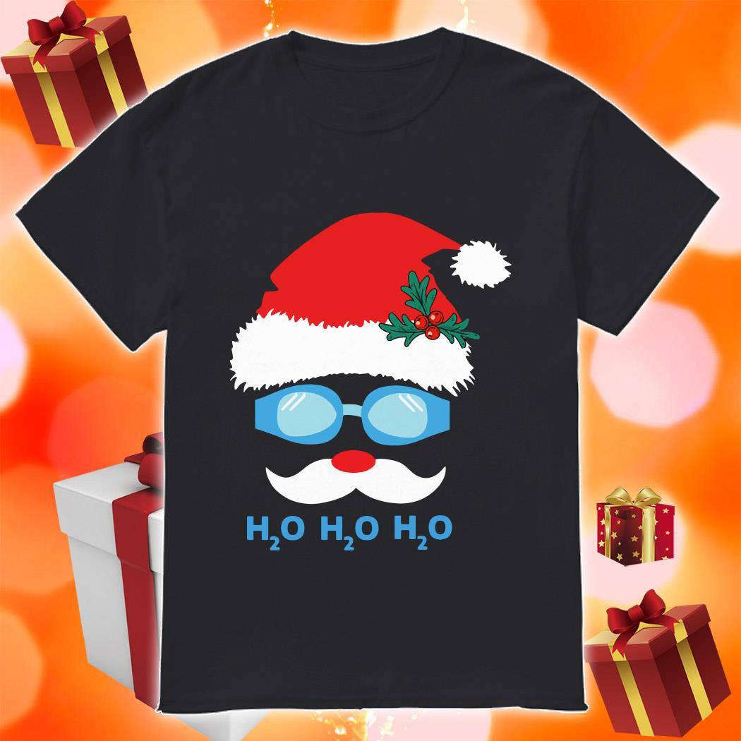 H2O H2O H2O Diving Santa Claus shirt