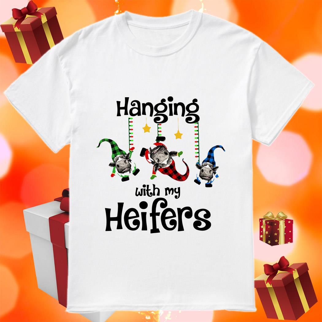 Hanging with my Heifers gnomies Christmas shirt