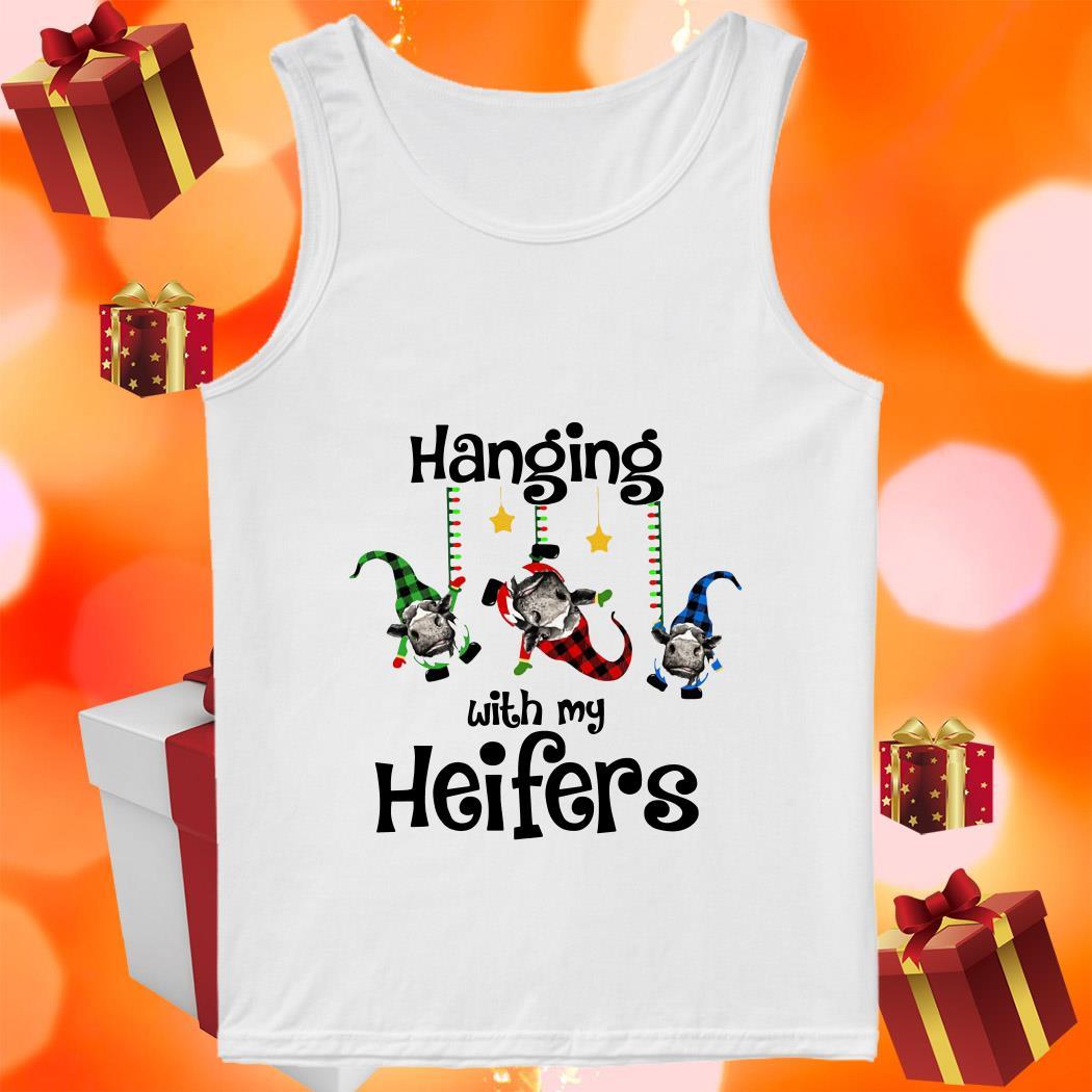 Hanging with my Heifers gnomies Christmas tank top