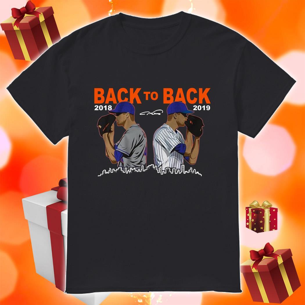 Jacob deGrom Back To back 2018 2019 shirt