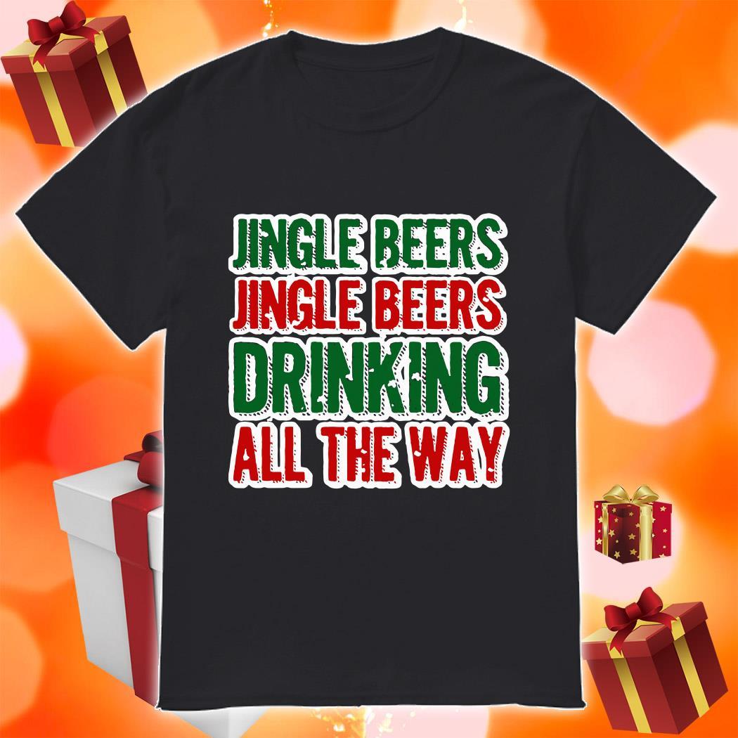 Jingle beers Jingle beers drinking all the way sweater
