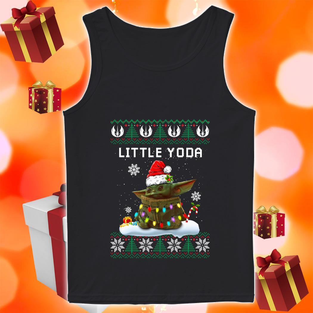 Little Yoda Merry Christmas tank top