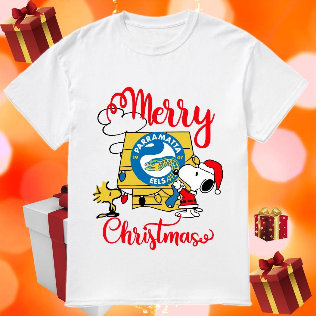 Merry Christmas Snoopy Parramatta Eels shirt