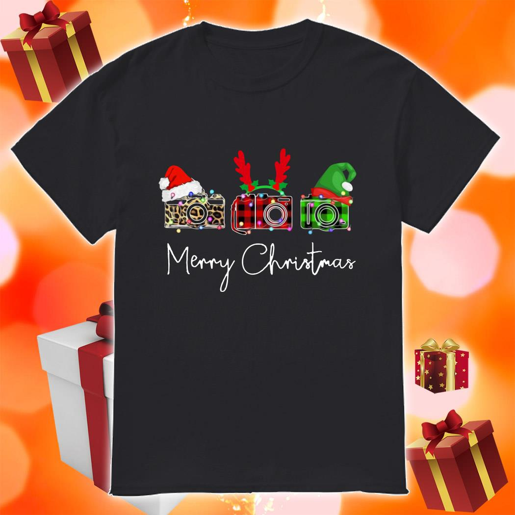 Photographer plaid Merry Christmas shirt