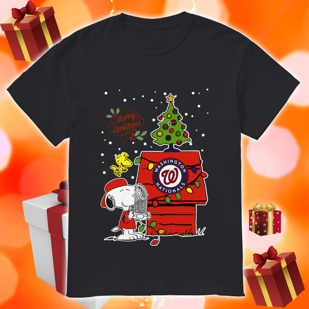 Snoopy Washington Nationals Merry Christmas shirt