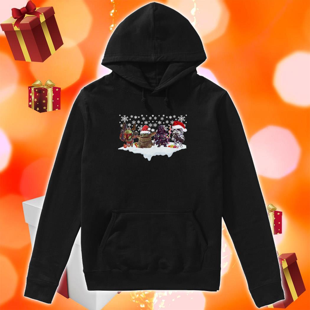 Star Wars Characters chibi Merry Christmas hoodie