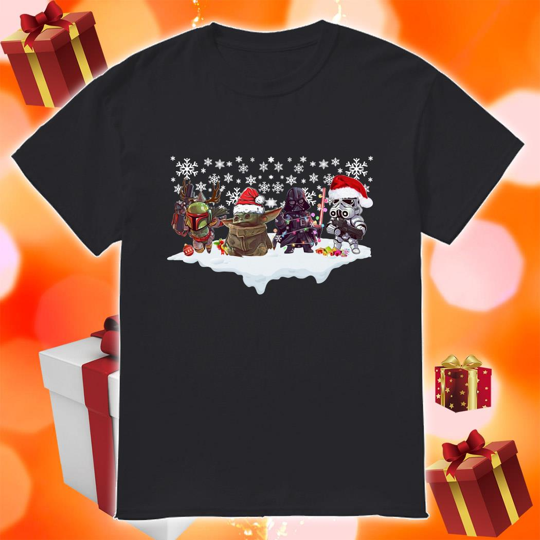 Star Wars Characters chibi Merry Christmas shirt