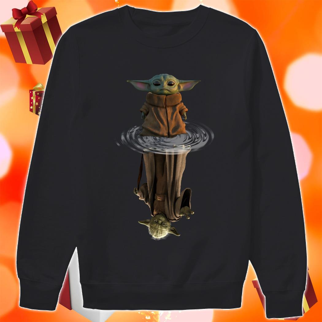 Baby Yoda and Master Yoda water reflection sweater