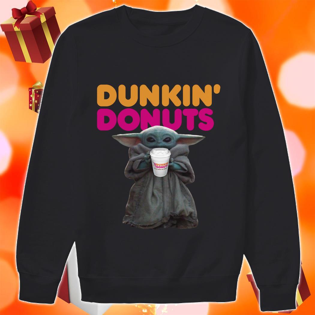 Baby Yoda Dunkin Donuts sweater