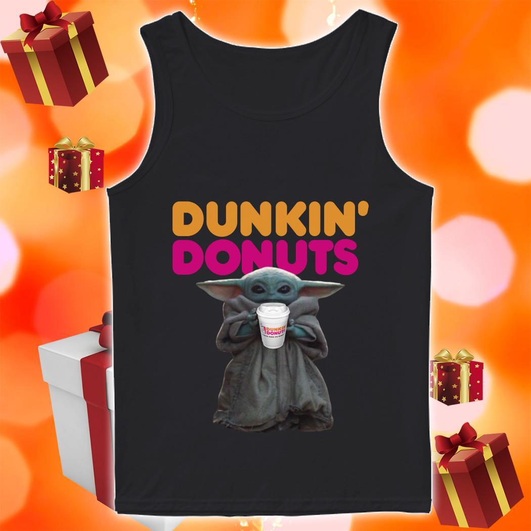 Baby Yoda Dunkin Donuts tank top