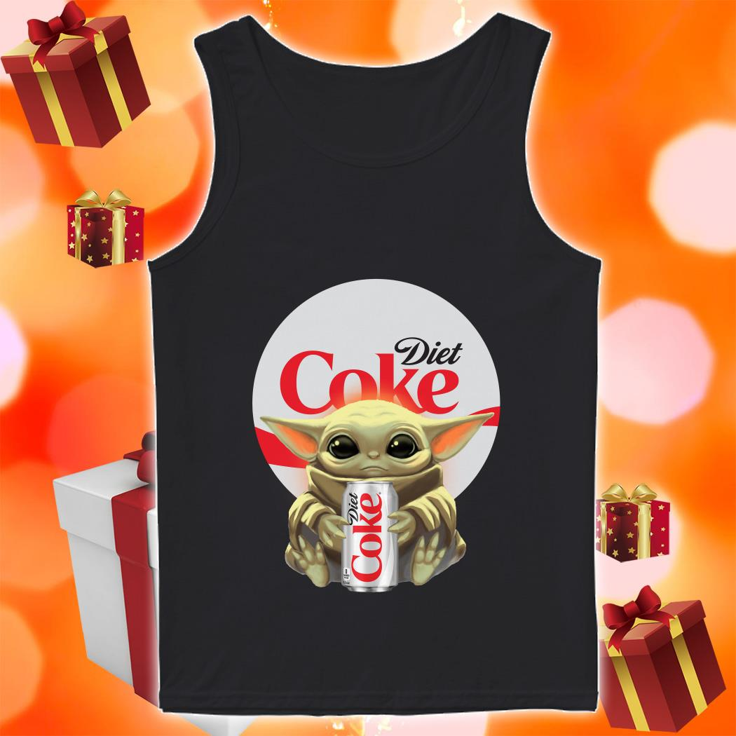 Baby Yoda hug Diet Coke tank top