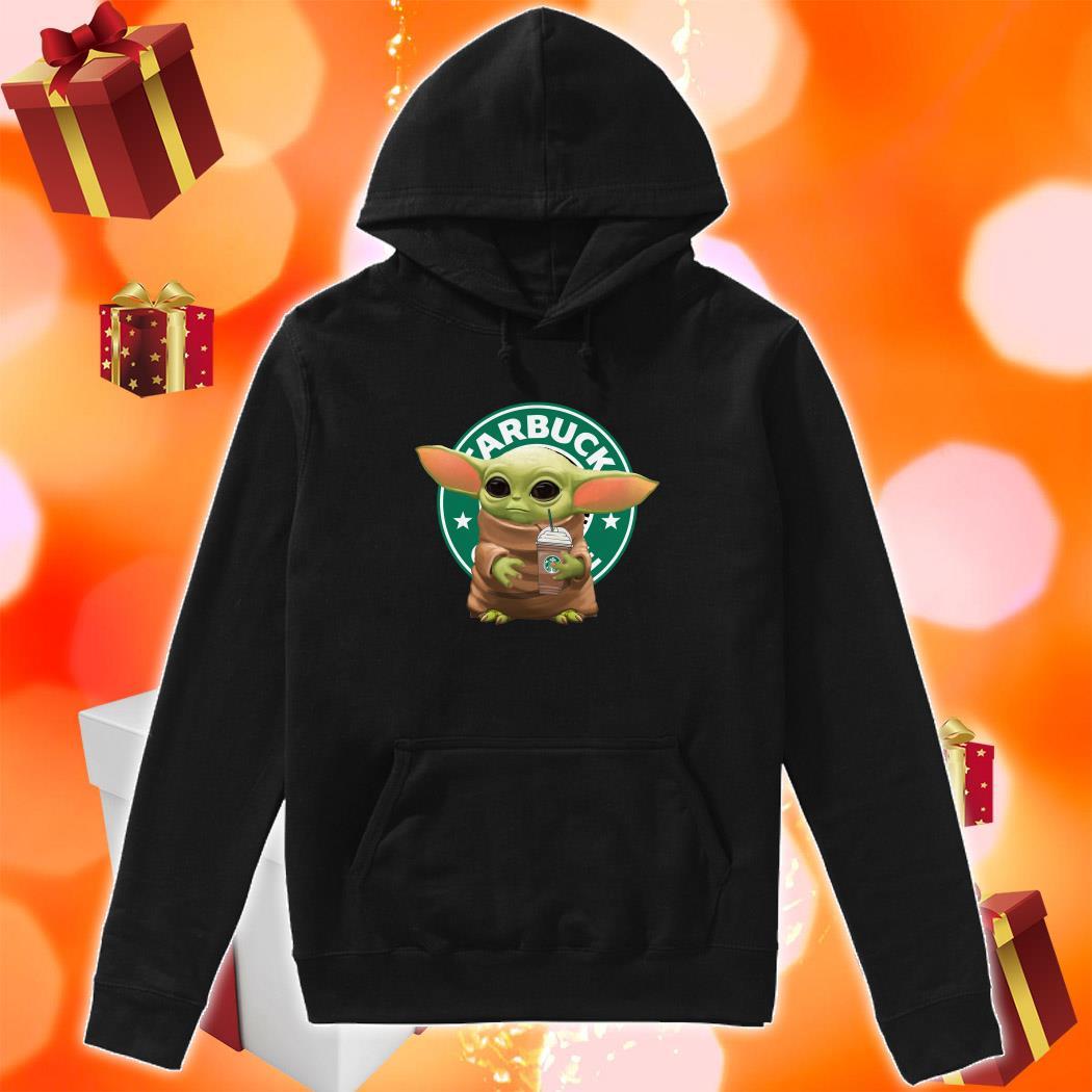 Baby yoda hug Starbucks ice cream hoodie
