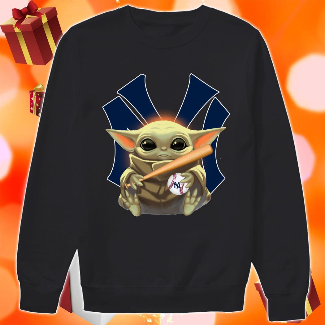 Baby Yoda love New York Yankees sweater