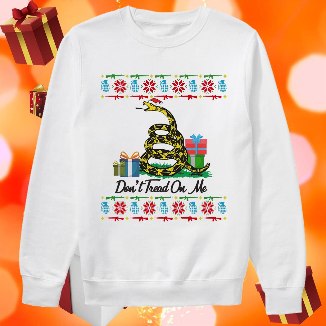 Don't Tread On Me Ugly Christmas sweater
