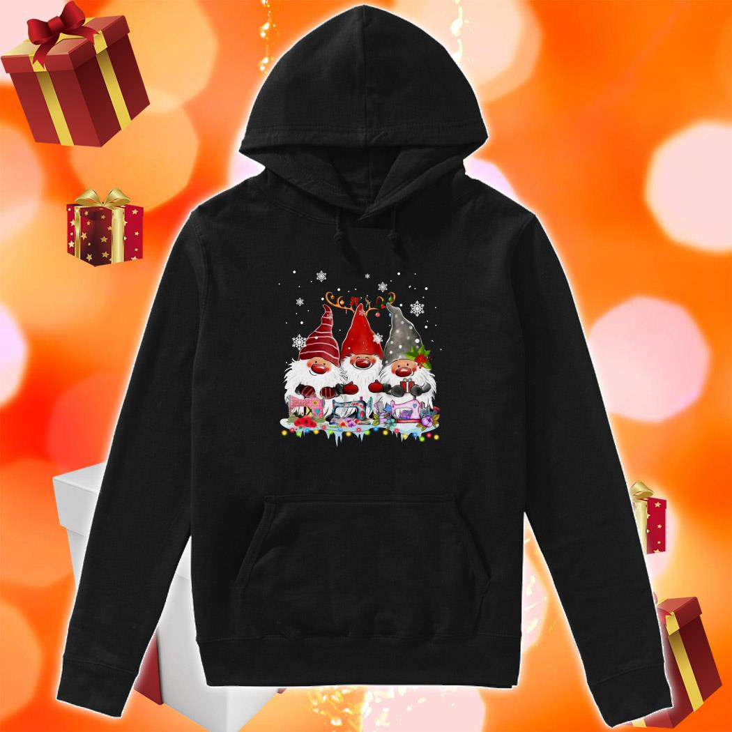 Gnomies Sewing Quilting Christmas hoodie