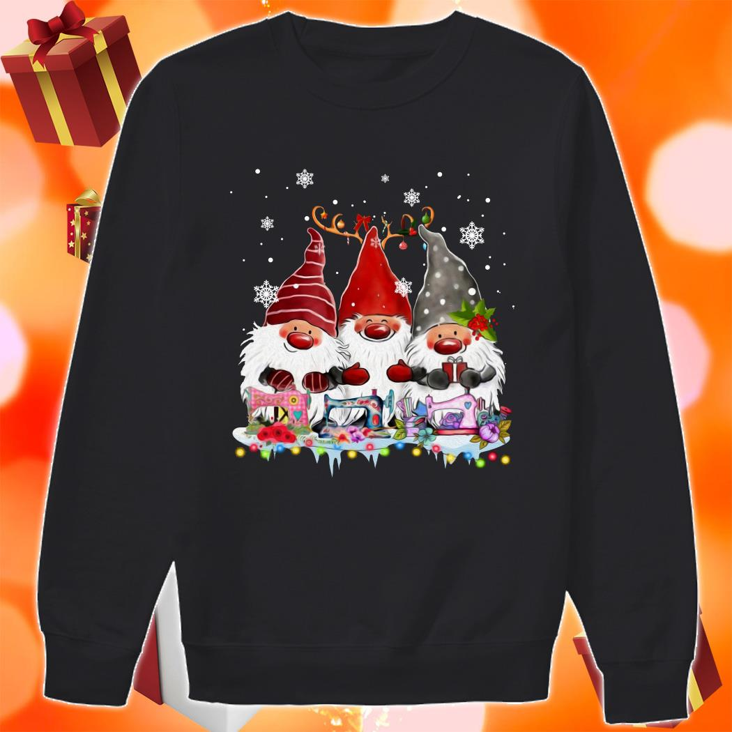 Gnomies Sewing Quilting Christmas sweater