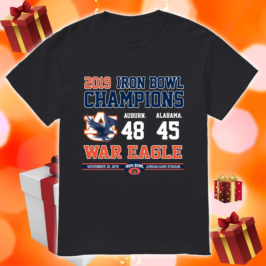 Iron Bowl Champions 2019 Auburn Tigers War Eagle shirt