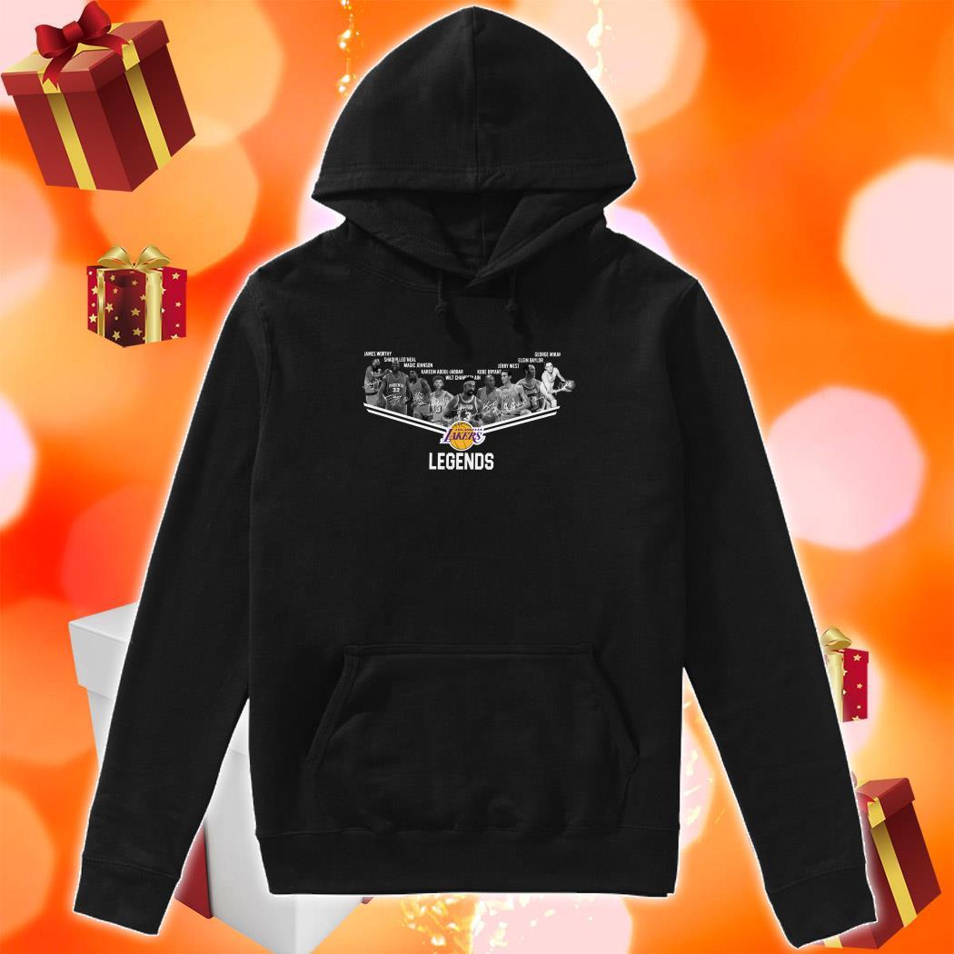 Los Angeles Laker Legends signatures hoodie