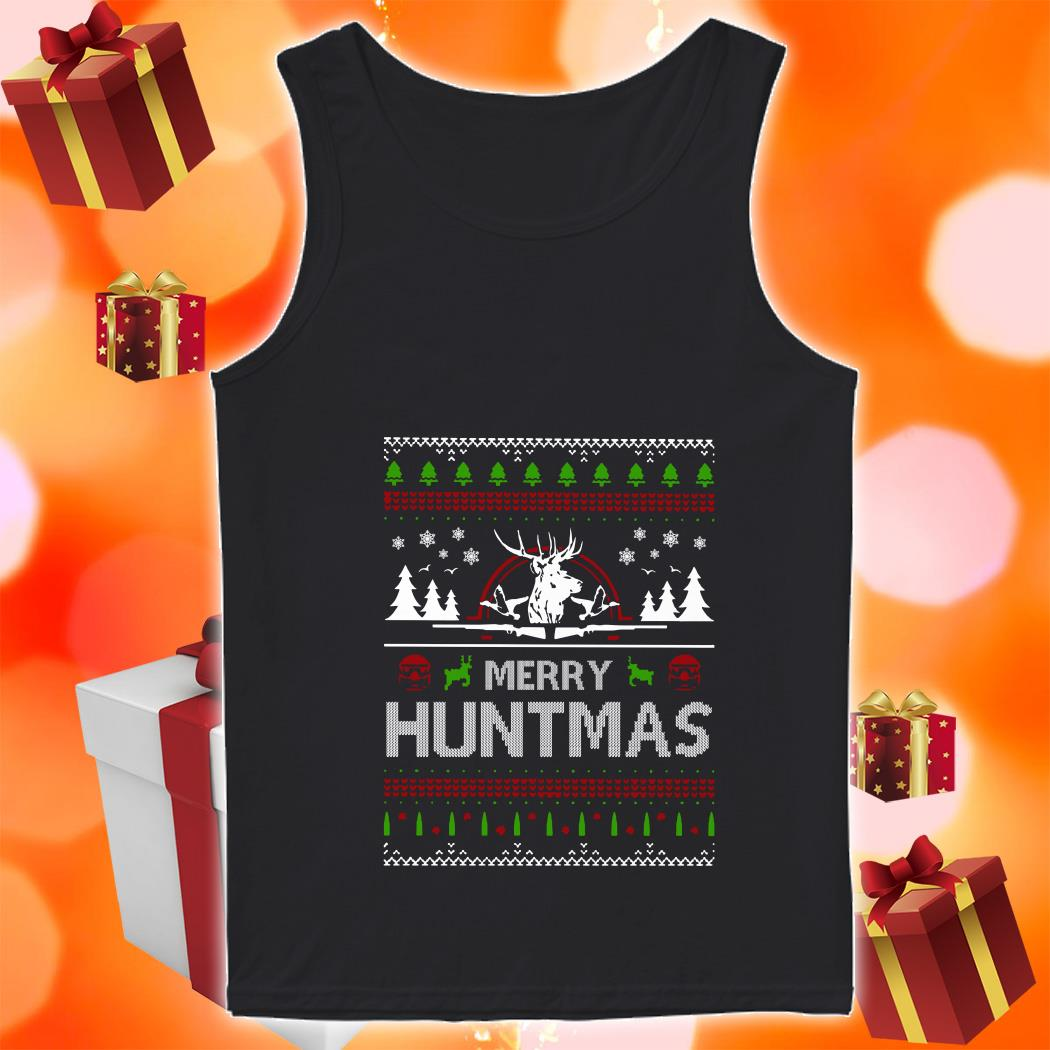 Merry Huntmas Ugly Christmas tank top
