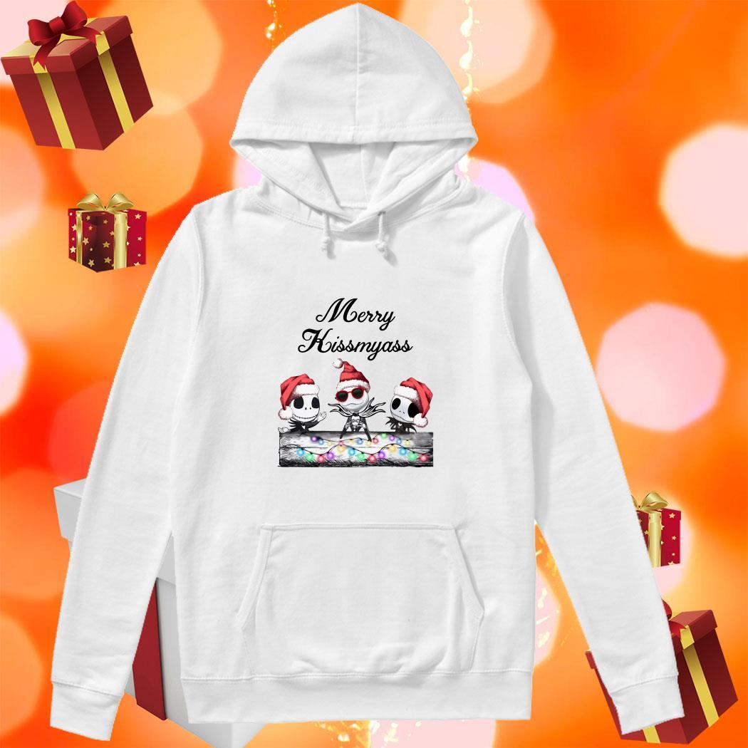 Merry Kissmyass Jack Skellington Santa Claus hoodie