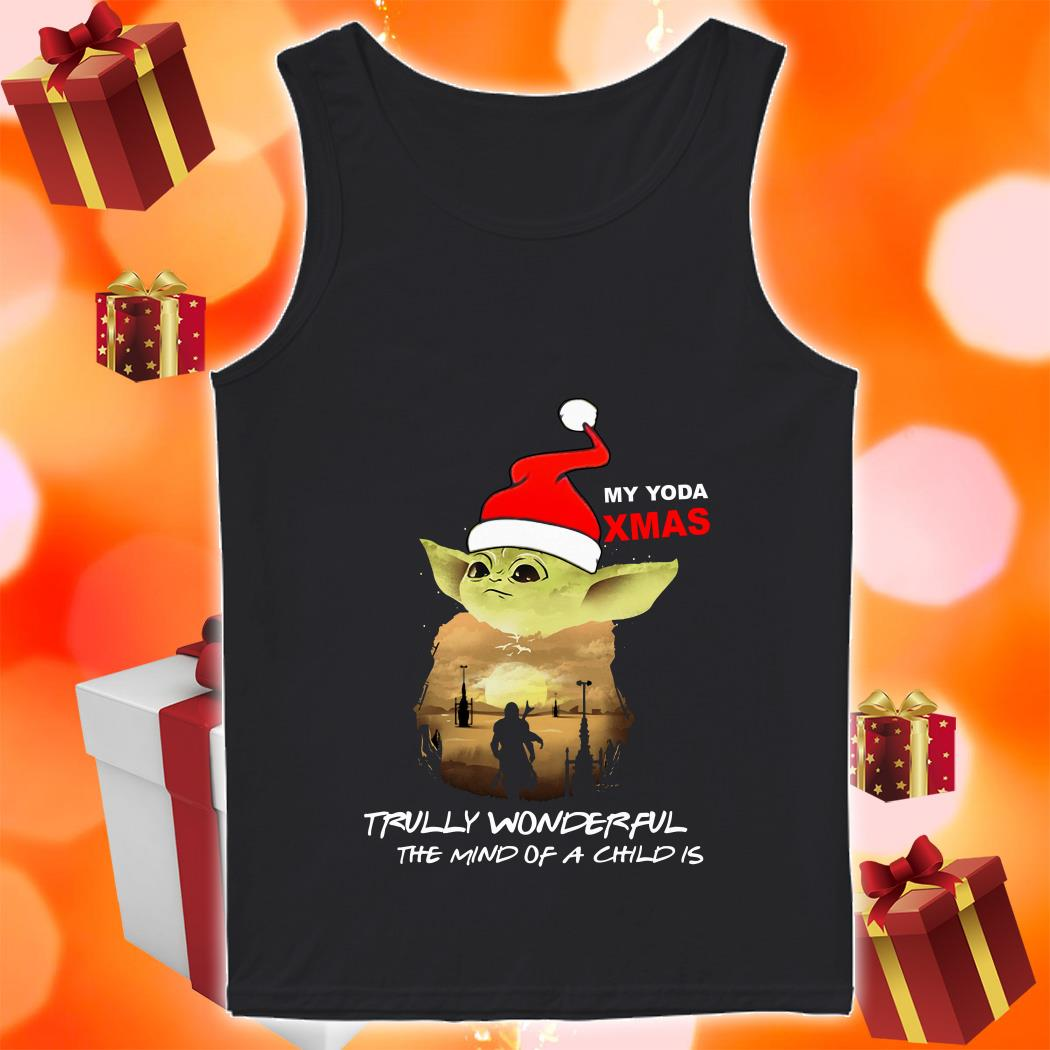 My Yoda Xmas Trully wonderful the mind of a child is Christmas tank top