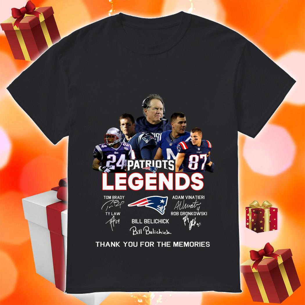 New England Patriots Legends Thank you for the memories shirt
