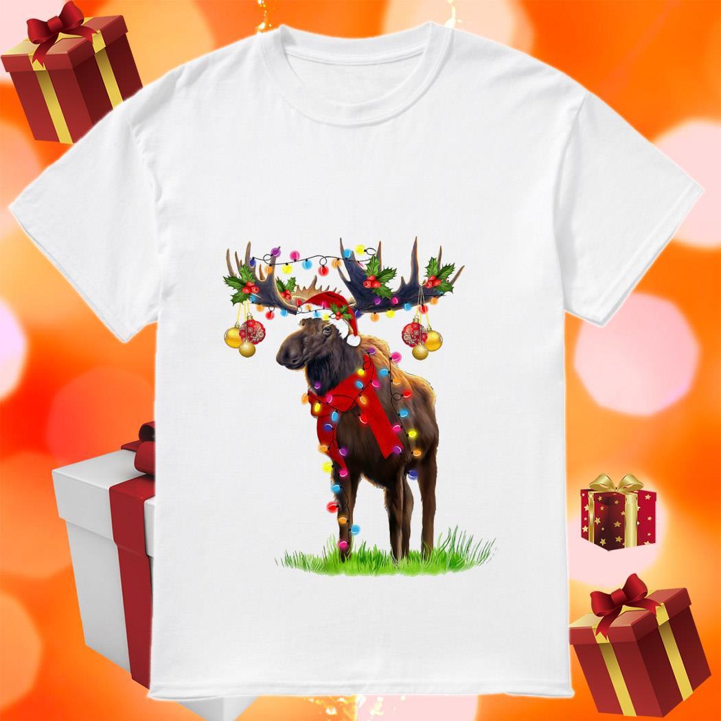 Reindeer Light Merry Christmas shirt