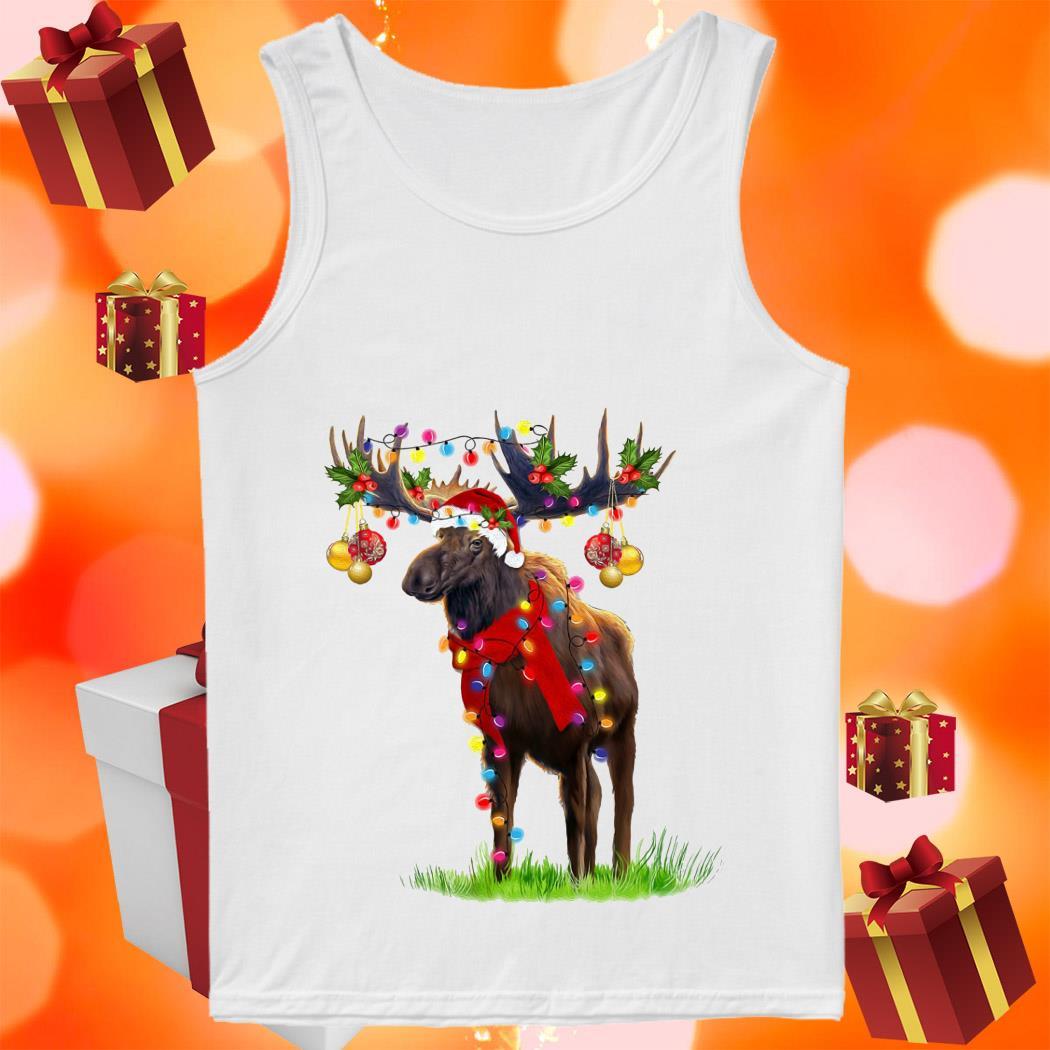 Reindeer Light Merry Christmas tank top
