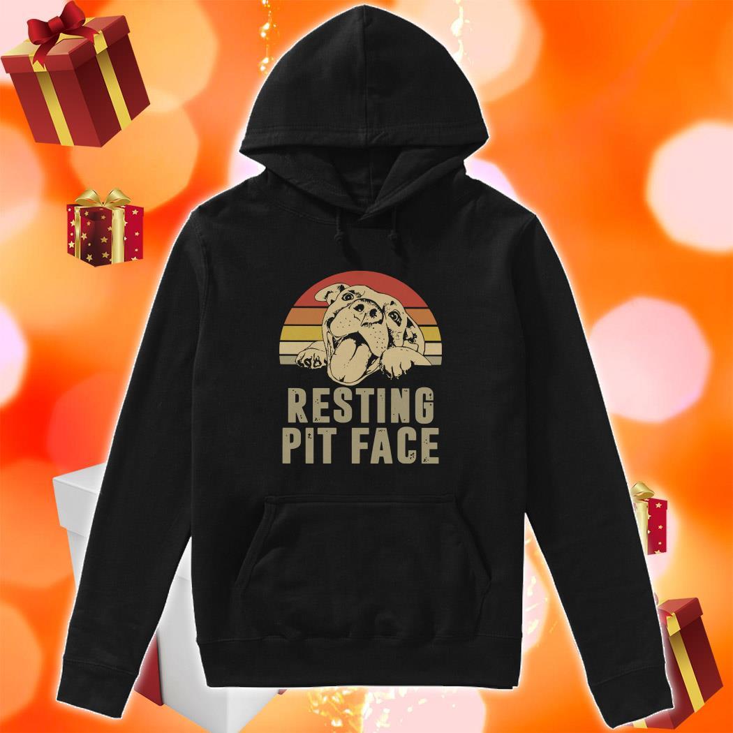 Resting pit face vintage hoodie