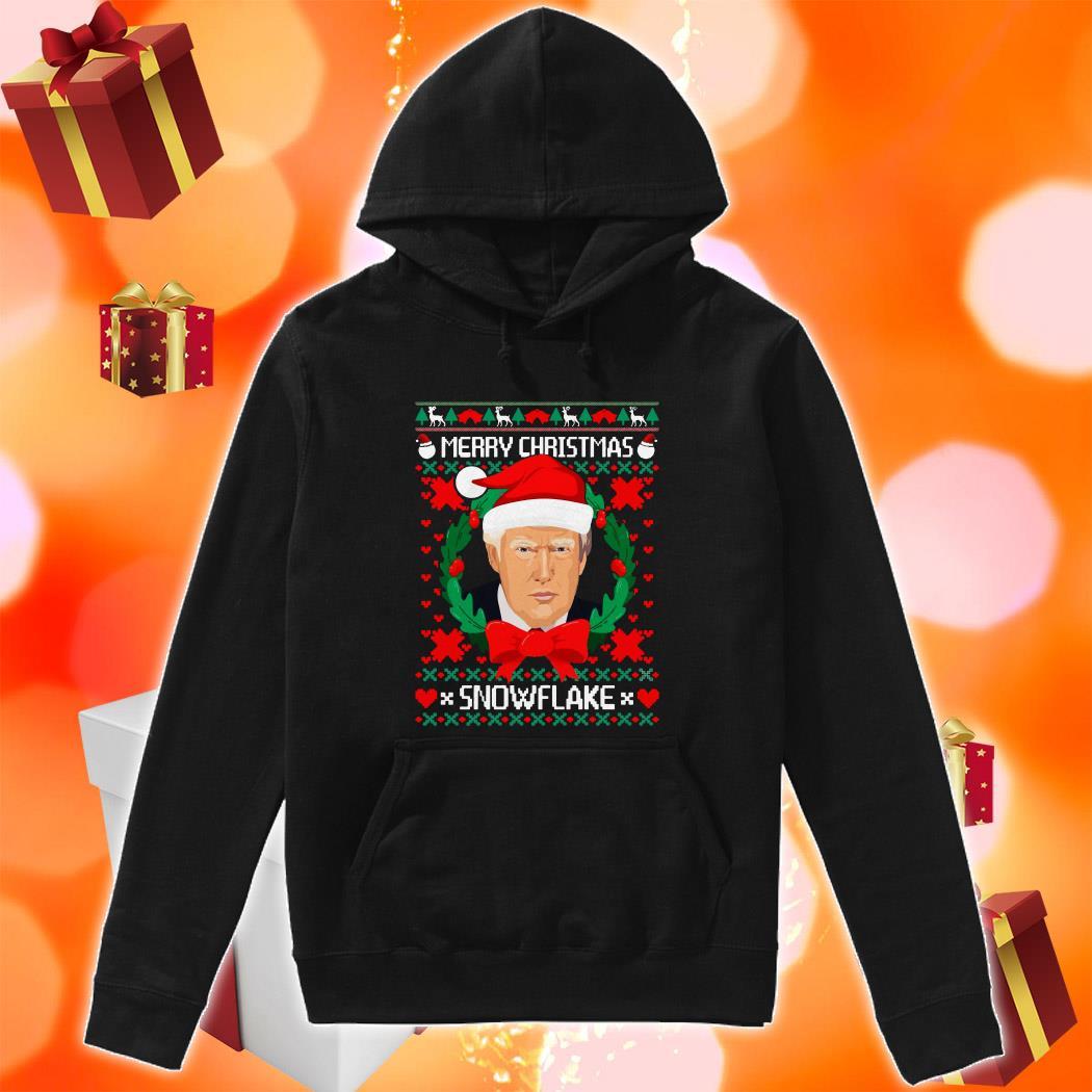 Trump Santa Merry Christmas snowflake ugly Christmas hoodie