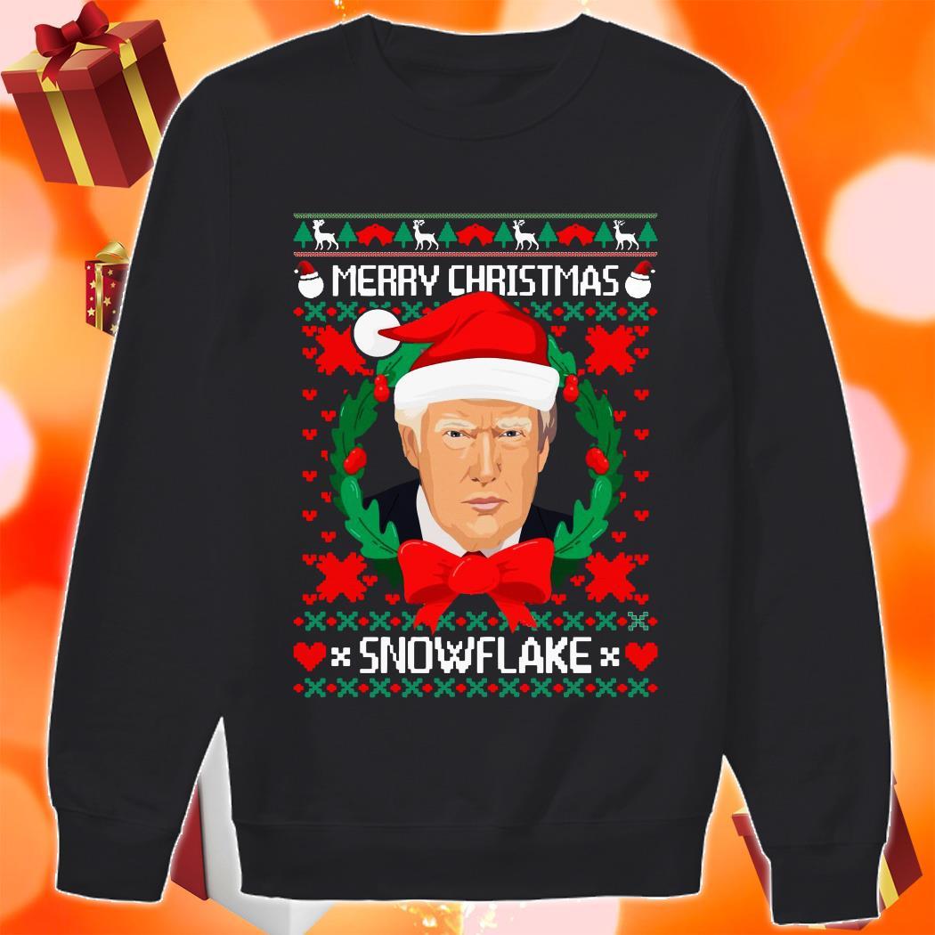 Trump Santa Merry Christmas snowflake ugly Christmas sweater