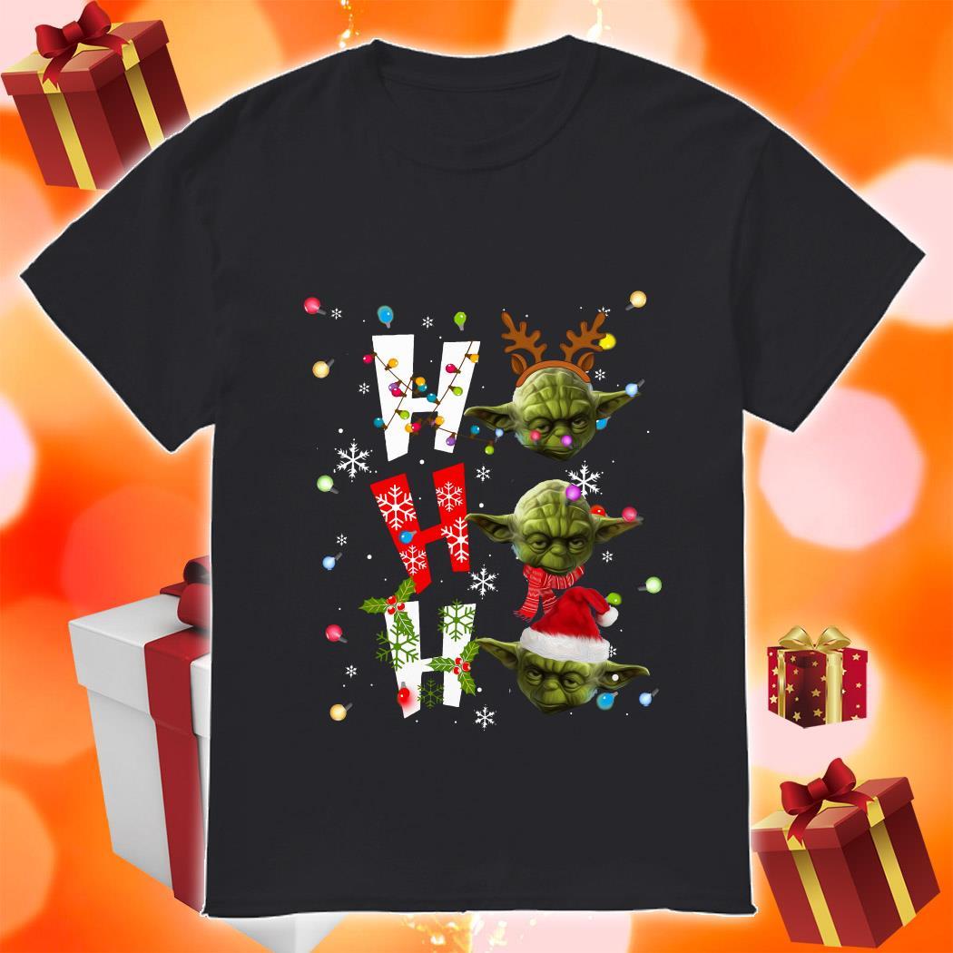 Yoda Ho Ho Ho Christmas shirt