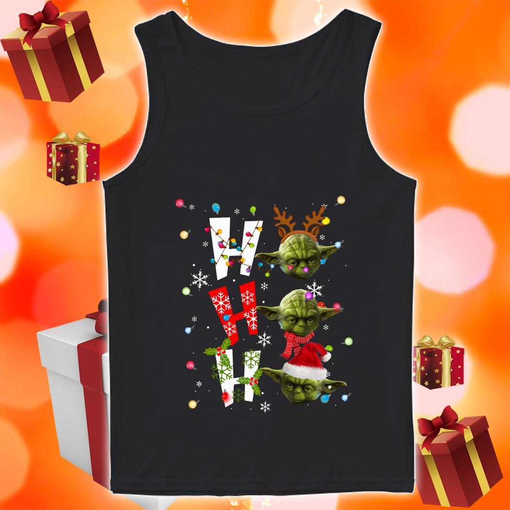 Yoda Ho Ho Ho Christmas tank top