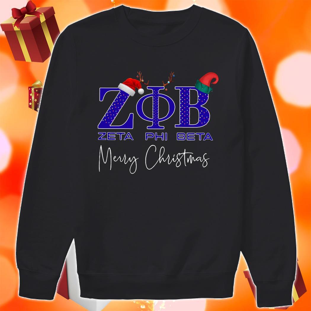 Zeta Phi Beta Merry Christmas sweater