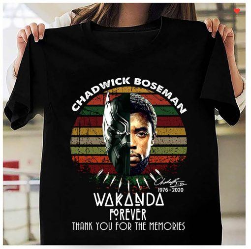 Chadwick Boseman Wakanda Forever Thank You For The Memories Vintage shirt 1 Picturestees Clothing - T Shirt Printing on Demand