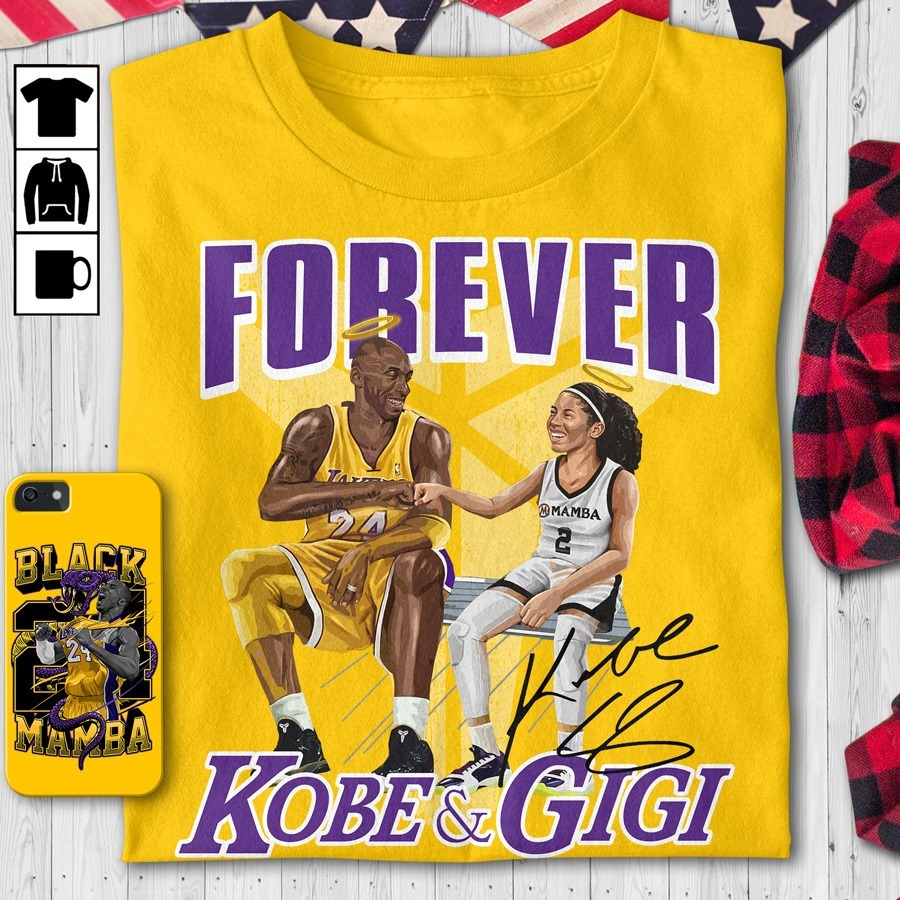 Forever Kobe and Gigi Love shirt 6 Picturestees Clothing - T Shirt Printing on Demand