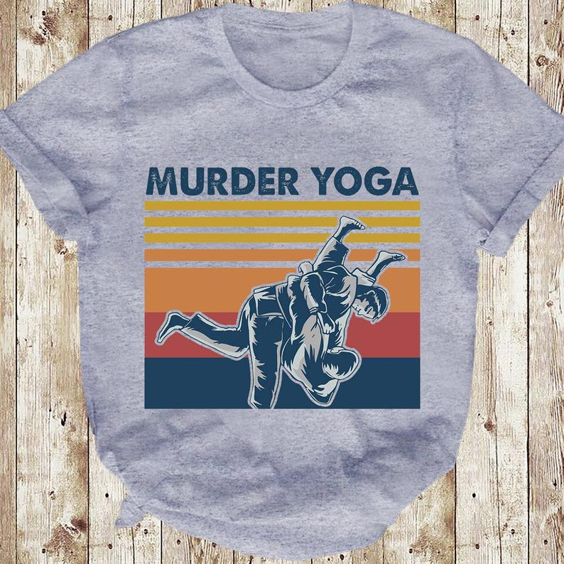 Murder Yoga Funny Vintage Jui Jitsu T-shirt 6 Picturestees Clothing - T Shirt Printing on Demand